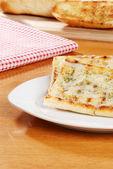 Mozzarella cheese garlic bread — Stock Photo