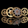 Stock Photo: Four old rusty clock gears