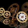 Rusty clock gears — Stock Photo