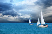 Sailing after a storm — Stock Photo