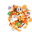 Top view assorted halloween candy — Stock Photo