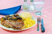 T Bone Steak Dinner — Stock Photo