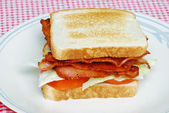 Toasted Bacon Lettuce and Tomato Sandwich — Stock Photo
