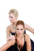 Zwei mode-modelle — Stockfoto