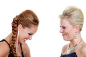 Two models laughing — Stock Photo