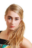 Headshot of pretty blond teenager — Stock Photo