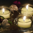 Stock Photo: Floating candles