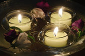 Floating candles — Foto Stock