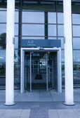 Entrance of railway station — Stock Photo