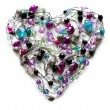 Royalty-Free Stock Photo: Decorative heart from jewelry