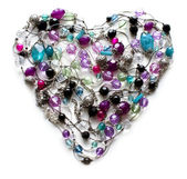 Decorative heart from jewelry — Stock Photo