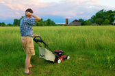 Mowing Job — Stock Photo