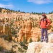 Woman viewing Bryce Canyon — Stock Photo