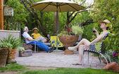 Relaxing in the garden — Stock Photo