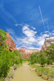 River through Zion — Stock Photo