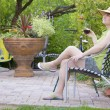 Relaxing in the garden — Stock Photo