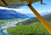 Flying over New Zealand — Stock Photo