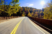 Road through Appalachians — Stock Photo
