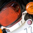 Motorcycle rear lights - Stock Photo