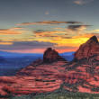 Red Rocks sunset — Stock Photo