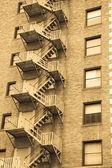 Fire escape ladder — Stock Photo
