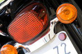 Motorcycle rear lights — Stock Photo