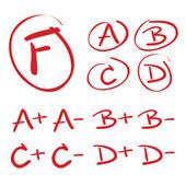Vector Hand Drawn Grades — Stock Vector