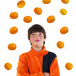 The boy with oranges — Stock Photo #3945547