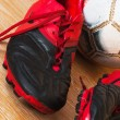 Old football boots — Stock Photo