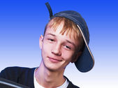 Boy with cap — Stock Photo