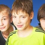 Bunch of teenagers — Stock Photo