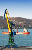Sea trading port — Foto Stock
