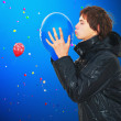 The sky with balloons — Stock Photo