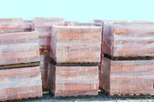 Bricks On Pallets — Stock Photo