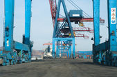 Crane With Containers — Stock Photo