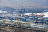 Vostochny porto na cidade de nachodka na rússia — Foto Stock