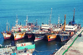 Fishing Boats At Dock — Stock Photo