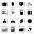 Royalty-Free Stock Vector Image: Business icons - B&W series