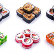 Rolled and sushi set — Stock Photo