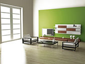 Living room 3D — Stock Photo
