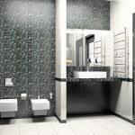 Modern interior of a bathroom 3D — Stock Photo #5321681