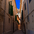 Shady Alley in Palma de Mallorca — Stock Photo