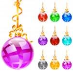 Christmas colourful balloons — Stock Vector