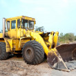 Old wheel loader bulldoze — Stock Photo