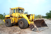 Old wheel loader bulldoze — Stock Photo