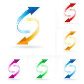 矢印円のセット — ストックベクタ
