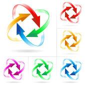 Ensemble de cercles de flèche — Vecteur