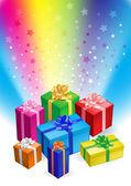 Gift boxes — 图库矢量图片