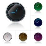 Часы набор различных цветов — Cтоковый вектор