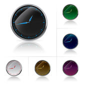 Different colors clock set — Stock Vector
